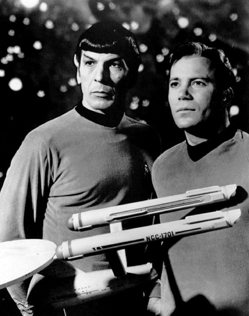 Leonard Nimoy as 'Spock'.