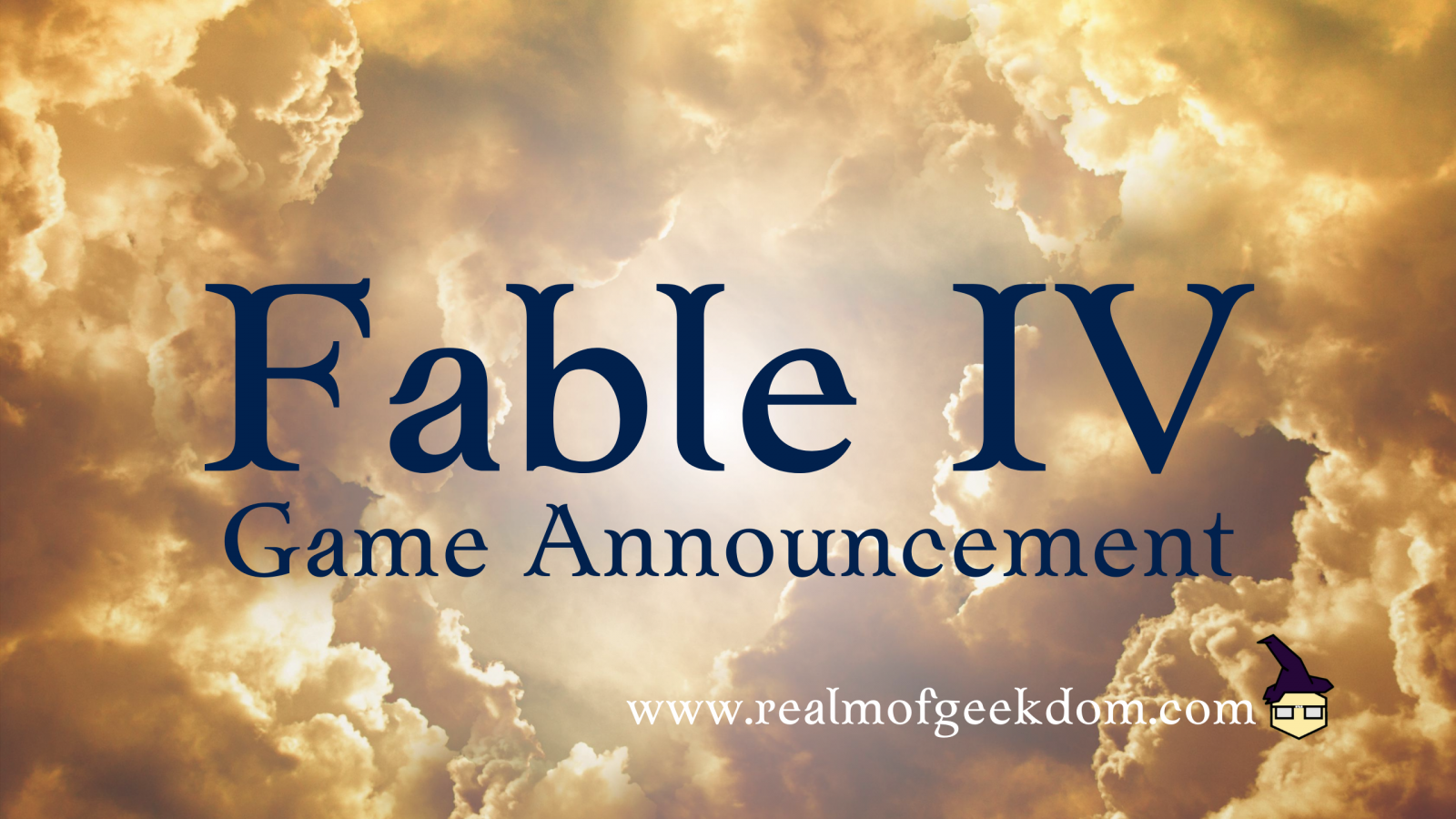 Fable IV Game Announcement Title Image